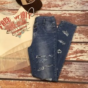 🎇 Refuge High Waisted Stretch Distressed Jeans